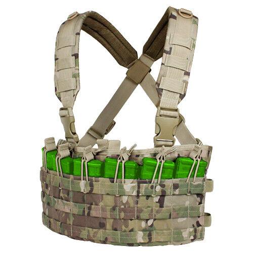 Condor Rapid Assault Chest Molle Rig Anpassbare Bereich Molle Chest Munition Vest Multicam C b10b8e