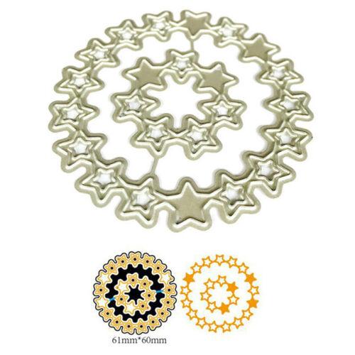 Kreis Sterne Metall Stanzformen Schablone für DIY Scrapbooking Papier Card DecSA
