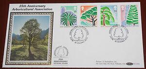 1990-Kew-Gardens-Benham-Silk-First-Day-Cover-BLCS54