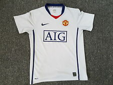 MAILLOT FOOTBALL PORTE WORN SHIRT ANCIEN VINTAGE MANCHESTER UNITED NIKE AIG T. S