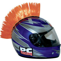 Pc Racing Orange Helmet Mohawk For Most Adult Motorcycle Helmets