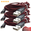 miniature 1 - 3Pack USB Fast Charger 10FT Heavy Duty Cable For iPhone 8 7 XR Charging Cord RED