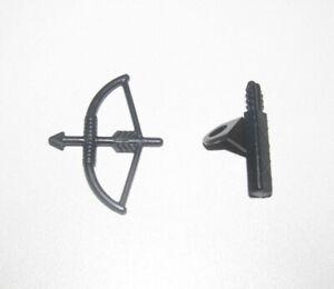 Lego-Accessoire-Minifig-Lot-Arc-amp-Carquois-Bow-Arrow-Black-4498-4499-NEW