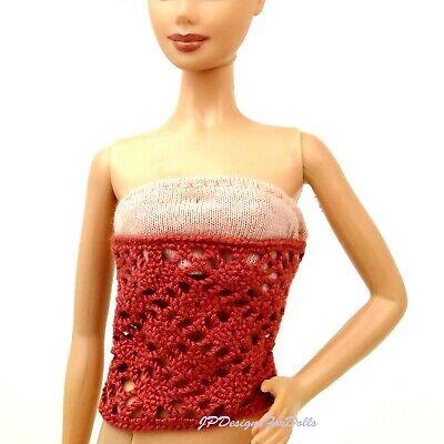 Barbie My Scene Maglia E Uncinetto Senza Spalline Top Nuovo No Bambola-mostra Il Titolo Originale Moda Attraente
