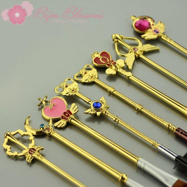 8 Pcs Brush Set Sailor Moon Wand Scepter Cosmetics Makeup Brushes FREE SHIPPING