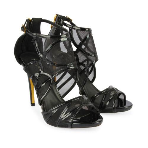 Women's Ladies Cutout Net High Heel Party Bridal Platform Sandals Shoes Size 5