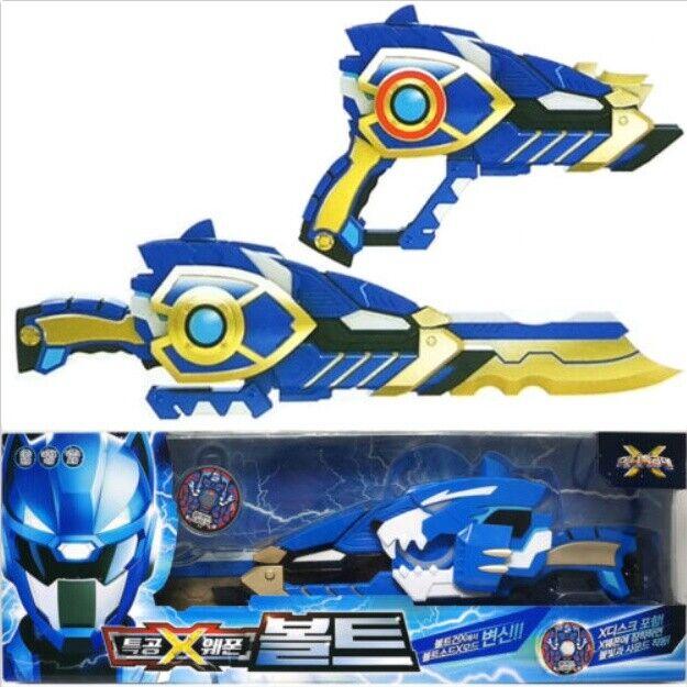 MINIFORCE X BOLT Ranger Weapon bluee Transweapon Gun Sword Toys Set Mini Force