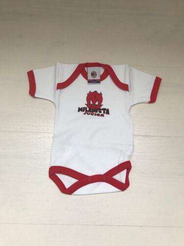 Clubes Internacionales 3354 Ac Milan Baby Neonato Body Cotone M Corta Infant Official Wear Mil001 Belmax Com Br