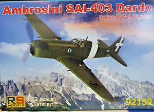 Ambrosini-SAI-403-Dardo-Italian-WWII-Fighter-RS-Models-Kit-1-72-92159-Nuovo