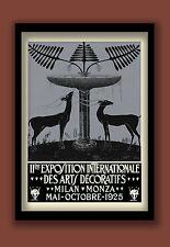 ART DECO POSTER 1925 MILAN EXHIBITION LARGE A2 (40X60 CM) PRINT