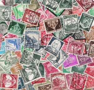100 verschiedene dt. Reich gestempelt! / 100 different stamps German Empire used