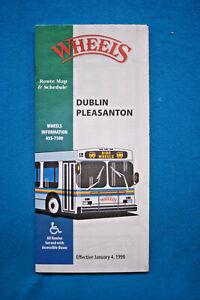 Wheels-Timetable-Dublin-Pleasanton-Route-Map-amp-Schedule-1-4-98