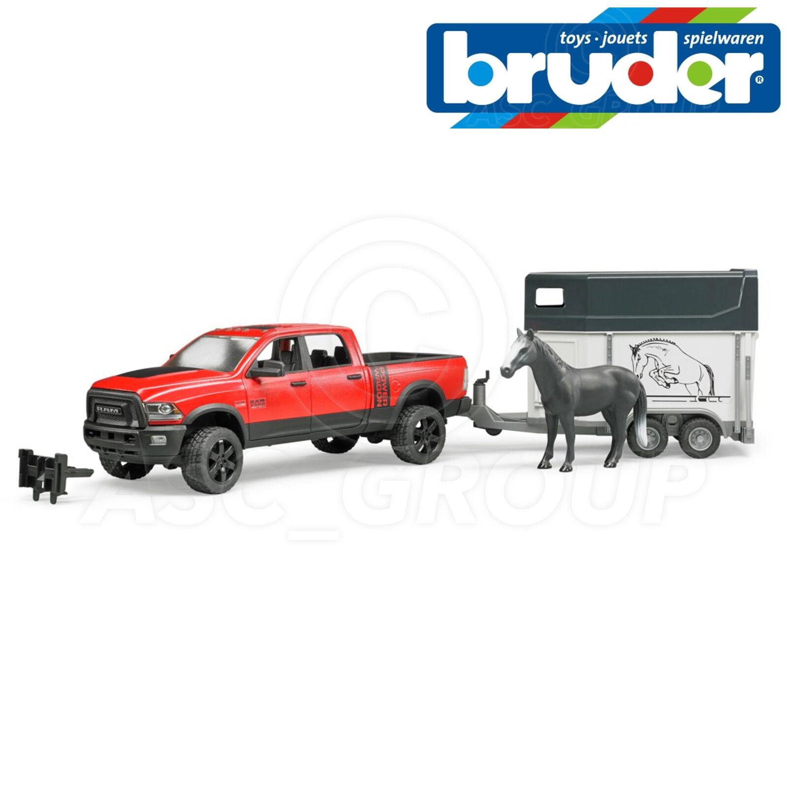 Bruder  Jouets 02501 Dodge Ram 2500 puissance Camionnette avec Cheval + Remorque  qualité pas cher et top