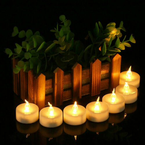 LED Flameless Candle Tea Lights Flickering Battery Operated Christmas Party Lamp