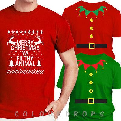 Merry Christmas Mens T Shirt Xmas Festive Funny Top Fancy Dress S-XXL Joke