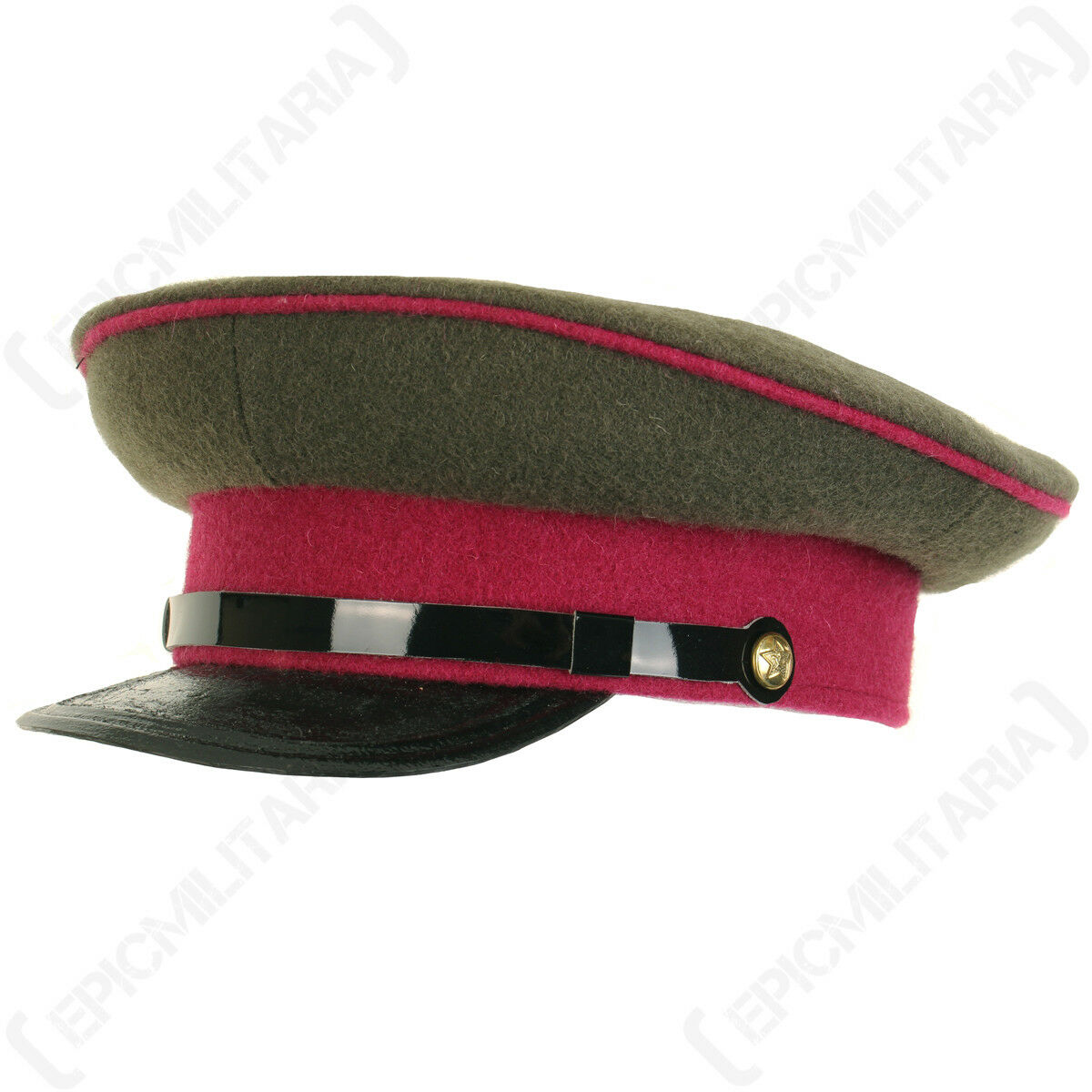 WW2 Russian M36 Visor Cap Infantry - Peaked Red Army Soviet Uniform Military New