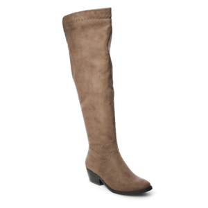 NWT Women's SONOMA Goods for Life Quill Over-The-Knee Boots shoes Brown