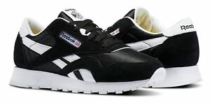 101bedfd046 Image is loading Reebok-Classic-Nylon-Black-White-Junior-Kids-Running-