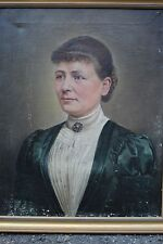 """Portrait of a young lady"", Biedermeier oil painting, ca.1840 prussia Berlin"