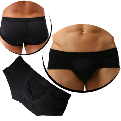 2019 Moda Uomini Biancheria Intima Slip Nero Panty Tg. L Xl Xxl Xxxl