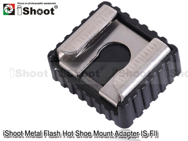 "Metal Flash Hot Shoe Mount Adapter to 1/4"" Thread for Studio Light Stand/Tripod"