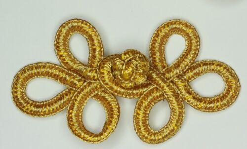 Frog Fasteners Button Knots  Colours:  Gold Red # S15 Silver Cream Black