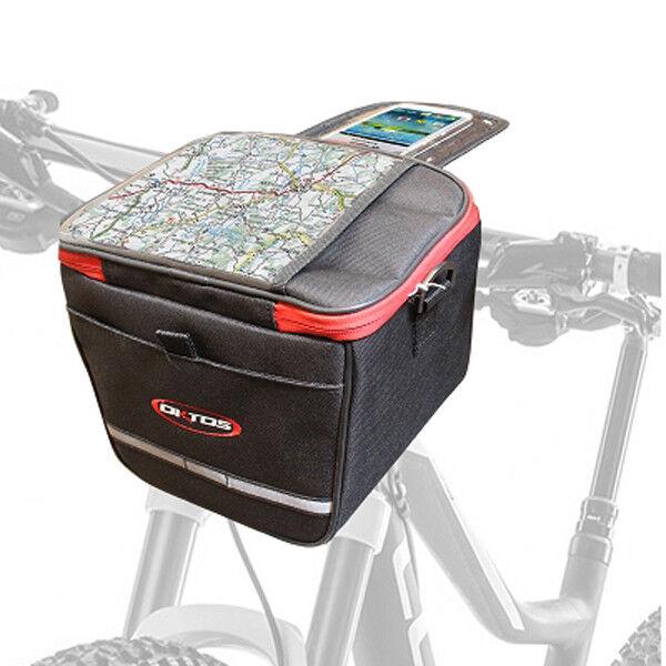 Sac vélo sacoche de guidon OKTOS black ROUGR avec AVANT couvercle pour smartphone