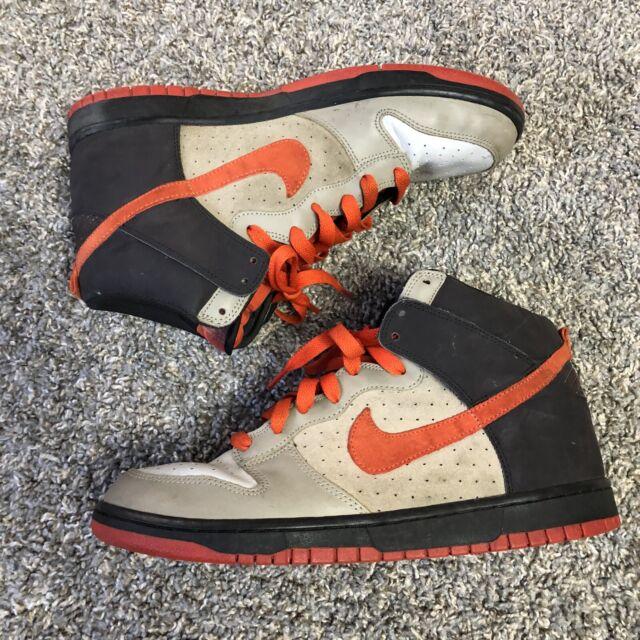 Nike Dunk High Team Orange 2008 Size 11.5 Light Bone/Orange Used No Box
