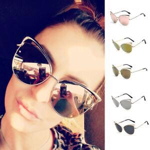 38863ec9215 Image is loading Women-Cat-Eye-Retro-Vintage-Rockabilly-Sunglasses-Metal-