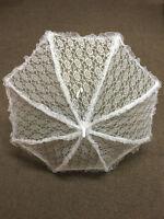 White Lace Victorian Regency Bo Peep Parasol Umbrella Fancy Dress Accessory New