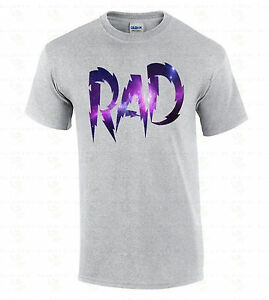 RAD-Galaxy-Men-039-s-T-SHIRT-Fashion-Swag-Funny-Radical-Tee-Space-Astro-80-039-s