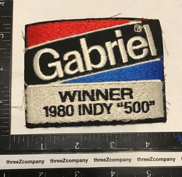 Vtg GABRIEL SHOCKS Indy 500 Winner Sponsor Car Racing Patch