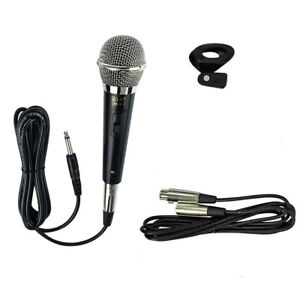 Professional-High-End-Metal-DJ-Handheld-Wired-Microphone-Mic-w-2-XLR-Cables