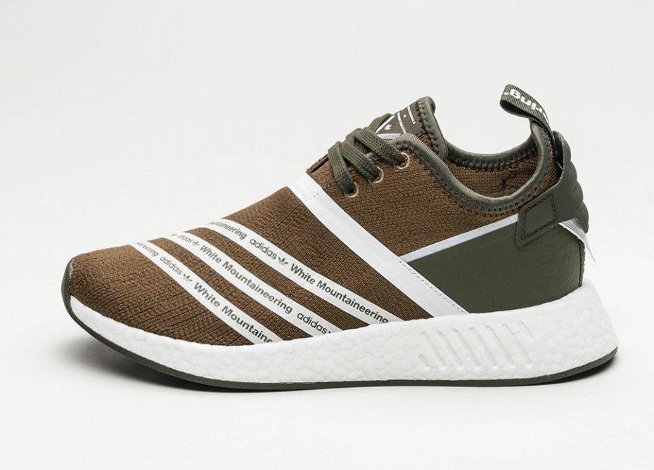Adidas Originals x Weiß Mountaineering Trainers NMD R2 Primeknit Größe uk 7.5