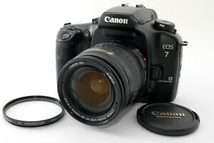 Near-Mint-Canon-EOS-ELAN-7-Film-Camera-w-EF-28-105mm-USM-Lens-From-Japan