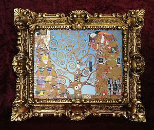 Bild-mit-Rahmen-Barock-Das-Lebensbaum-von-Klimt-45X38-Tree-of-Life-Gemaelde