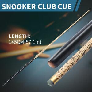 Black-Pool-Cue-3-4-Split-Cue-145CM-57-1-039-039-Head-10-MM-Cue-Chalk-Leather