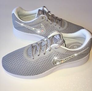 783178ab939d Image is loading Bling-Nike-Tanjun-Shoes-with-Swarovski-Crystal-Diamond-