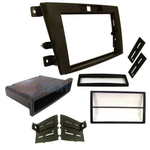 Radio Replacement Dash Mounting Kit Single//Double-DIN w//Pocket for Mazda CX-7