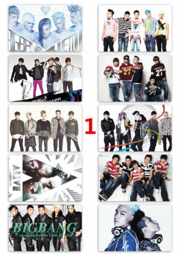 Bigbang K Pop pcs//set Card Paster IC Card Sticker Credit