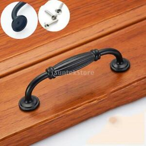 Image Is Loading Matte Black Door Pull Handle Kitchen Drawer Furniture