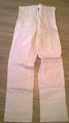 "Mens Boys White Work Trousers Decorator Painter Cricket? Waist 28"" And 30"", Long 100% Garantie"