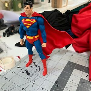 Wired-Fabric-Cape-For-McFarlane-Comic-Superman-Action-Figure-Cape-Only