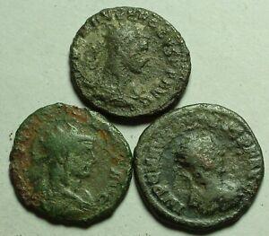 Lot of 3 Rare genuine Ancient Roman Antoninianus coins Probus Concordia Jupiter