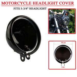 Black-5-75-034-LED-Headlight-Housing-Cover-For-Harley-Dyna-Glide-Fat