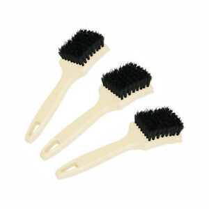 "Large White Wall and Tire Brush- 1"" Bristle Nylon (3 Units)"