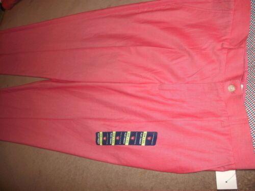 B84 Saddlebred men RED//Chambry//Coral Flat Frt Straight Fit Dress Pants 30 x 32