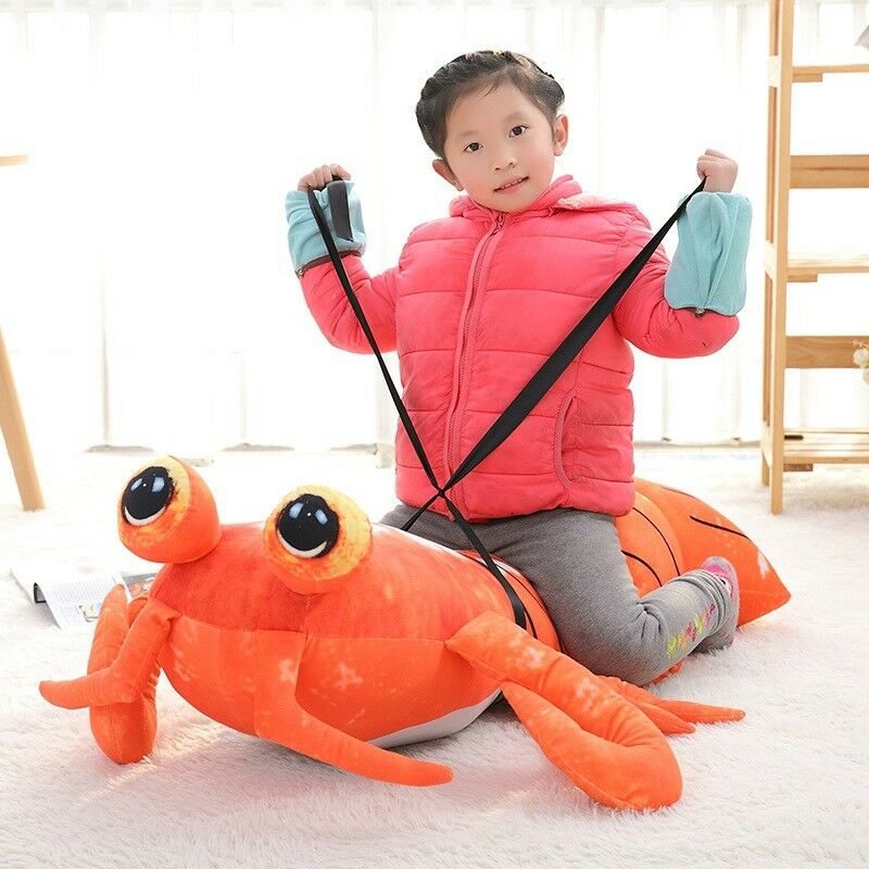 Big Lobster Anime Mantis Shrimp 47'' Giant Soft Plush Stuffed Toy Kid Doll Gifts