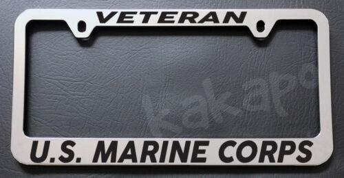 VETERAN US MARINE CORPS USMC Chrome License Plate Frame
