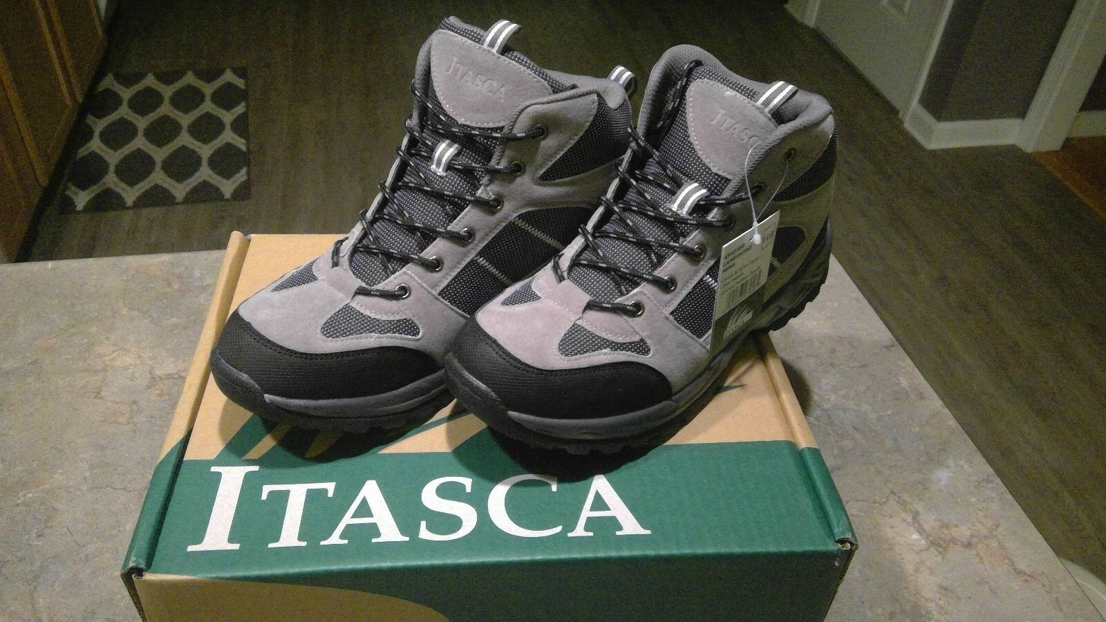 ITASCA  LANESBgold  MENS SUEDE  & NYLON TRACTION HIKING SHOE   SIZE 11   NIB    find your favorite here